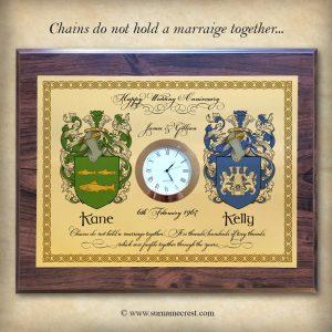 Wedding Anniversary Clock Gift