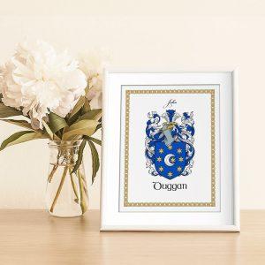 Family Name coat of arms Heraldic Print Gift