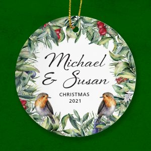 Personalised Christmas Gift for a couple = handcrafted in Galway Ireland. Worldwide Shipping.