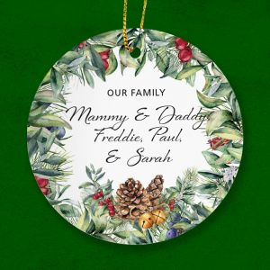 Our Family Christmas Ornament. Add your family names here.