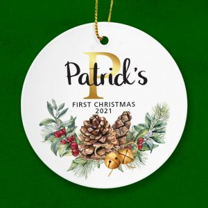 Celebrate a baby's first Christmas with this keepsake gift. Personalised ornament.