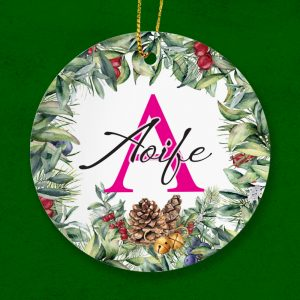 Personalised ceramic ornament for a girl of any age (0-100+).