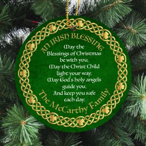 Personalised Christmas Ornament.May the Blessings of Christmas be with you, May the Christ Child light your way, May God's holy angels guide you, And keep you safe each day.