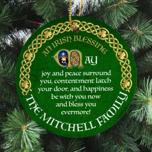 This personalised Irish Blessing Christmas ornament is a great gift that wishes good things for a family at Christmas and throughout the year.